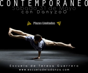 WORKSHOP Danza Contemporánea con DanyzoO. Sábado 31 de Mayo 10:30 h